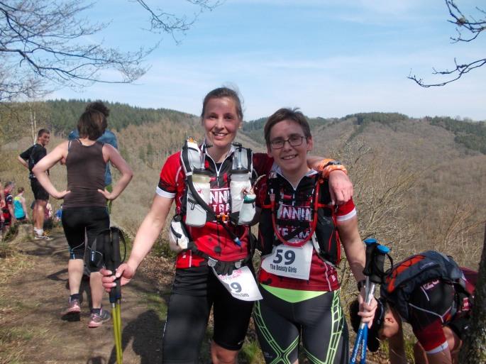 Teamtrail 2.0 (maart 2014) met loopmaatje Heidi