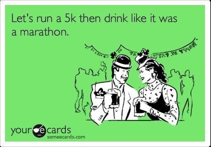 running drinking